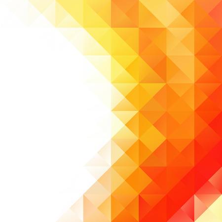 Orange Grid Mosaic Background, Creative Design Templates Vettoriali