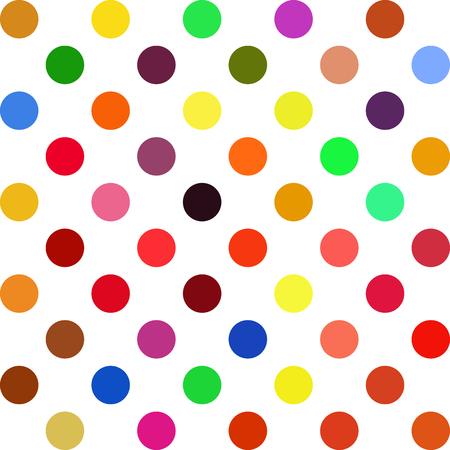 creative design: Colorful Polka Dots Background, Creative Design Templates Illustration