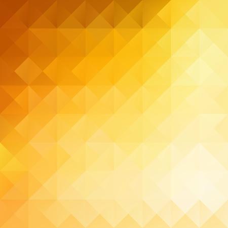 オレンジ色のグリッド モザイクの背景、創造的なデザイン テンプレート