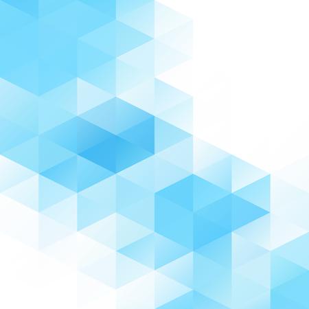 青いグリッド モザイクの背景、創造的なデザイン テンプレート  イラスト・ベクター素材