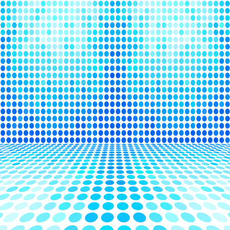 square background: Blue Dot Empty Perspective Digital Space Wall Room