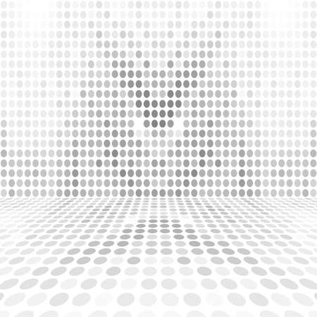 empty space: Gray White Dot Empty Perspective Digital Space Wall Room