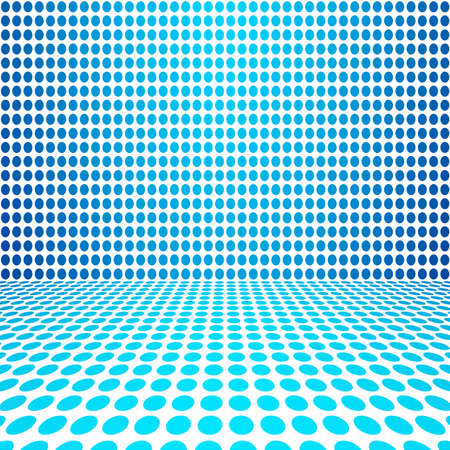 circle design: Blue Dot Empty Perspective Digital Space Wall Room