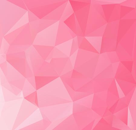 ピンク多角形のモザイクの背景、創造的なデザイン テンプレート