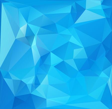 Antecedentes poligonal mosaico azul, plantillas de diseño creativo