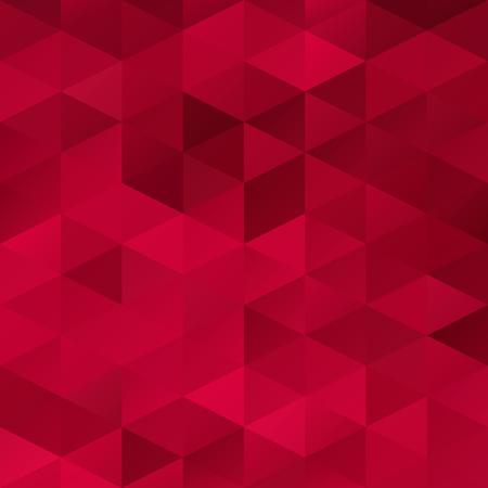 poligonos: Antecedentes del mosaico rejilla rojo, plantillas de diseño creativo