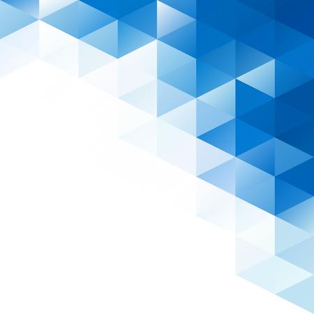 triangulo: Antecedentes del mosaico de cuadrícula azul, plantillas de diseño creativo