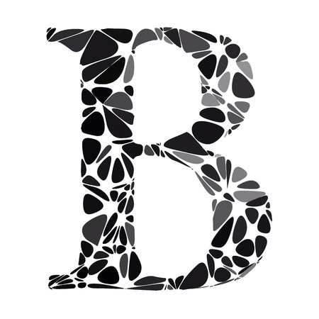 b cell: Black Alphabet b Cell Style, Creative Design Templates