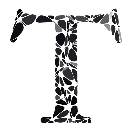 t cell: Black Alphabet t Cell Style, Creative Design Templates Illustration