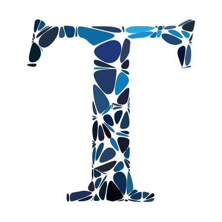 t cell: Blue Alphabet t Cell Style, Creative Design Templates