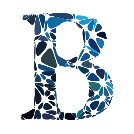 b cell: Blue Alphabet b Cell Style, Creative Design Templates Illustration