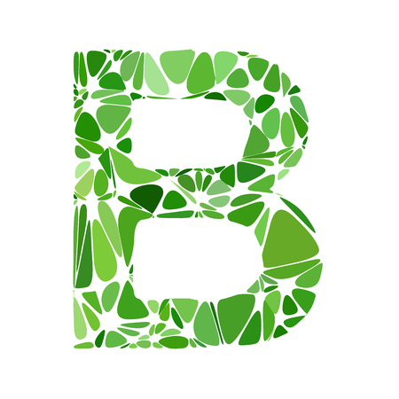 b cell: Green Alphabet b Cell Style, Creative Design Templates Illustration