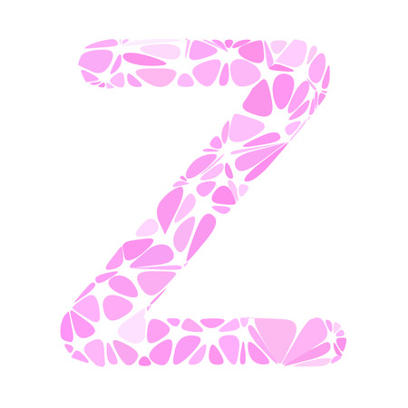 a pink cell: Pink Alphabet z Cell Style, Creative Design Templates
