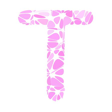 t cell: Pink Alphabet t Cell Style, Creative Design Templates
