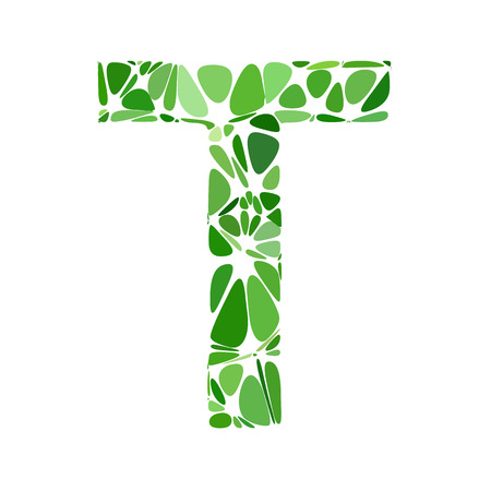 t cell: Green Alphabet t Cell Style, Creative Design Templates
