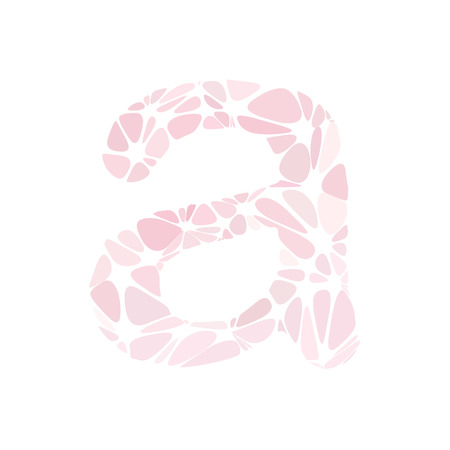 a pink cell: Pink Alphabet a Cell Style, Creative Design Templates