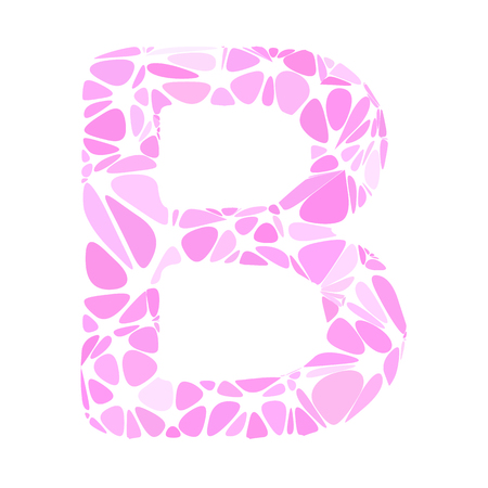 b cell: Pink Alphabet b Cell Style, Creative Design Templates