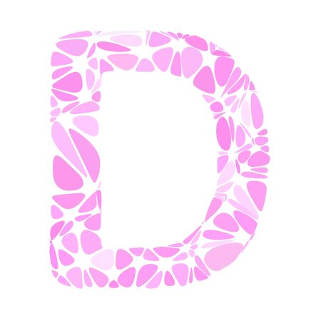 pink cell: Pink Alphabet d Cell Style, Creative Design Templates
