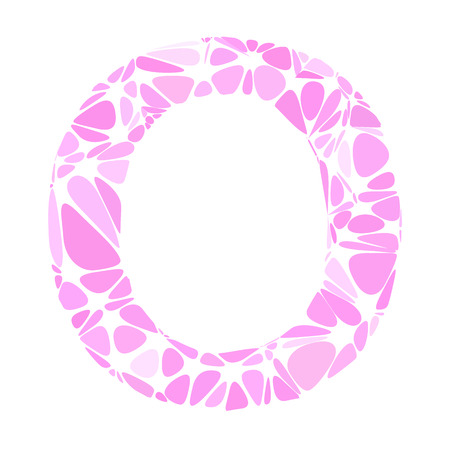 a pink cell: Pink Alphabet o Cell Style, Creative Design Templates