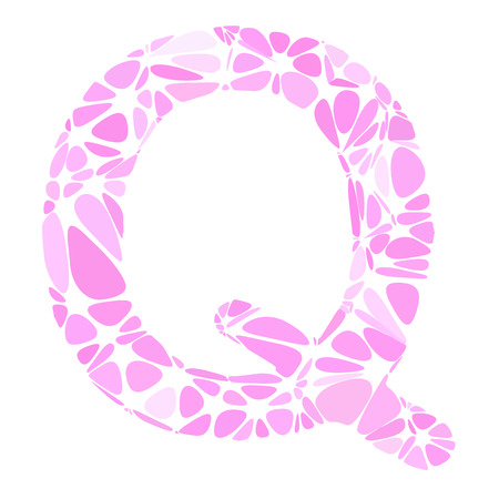 pink cell: Pink Alphabet q Cell Style, Creative Design Templates