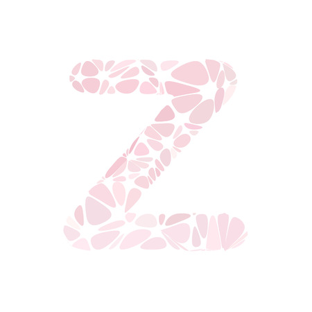 pink cell: Pink Alphabet z Cell Style, Creative Design Templates