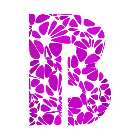 b cell: Purple Alphabet b Cell Style, Creative Design Templates Illustration