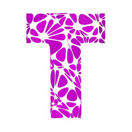 t cell: Purple Alphabet t Cell Style, Creative Design Templates