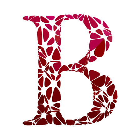 b cell: Red Alphabet b Cell Style, Creative Design Templates