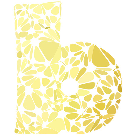 b cell: Yellow Alphabet b Cell Style, Creative Design Templates