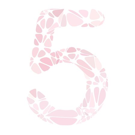 a pink cell: Pink Alphabet Cell Number Style