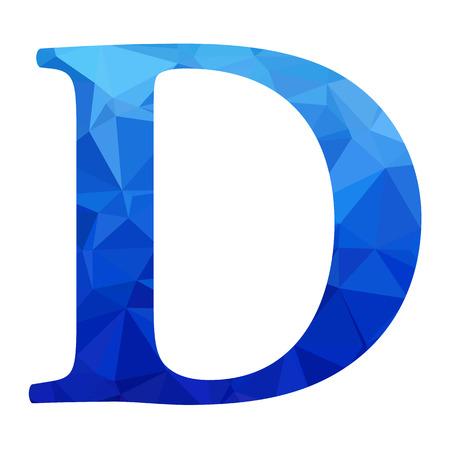 d: Blue Alphabet d Polygon Style, Creative Design Templates