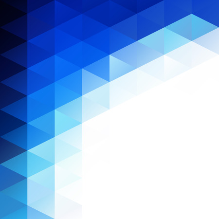 Antecedentes del mosaico de cuadrícula azul, plantillas de diseño creativo