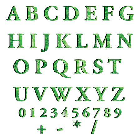 Green Alphabet Polygon Style, Creative Design Templates