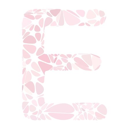 a pink cell: Pink Alphabet Cell Style, Creative Design Templates