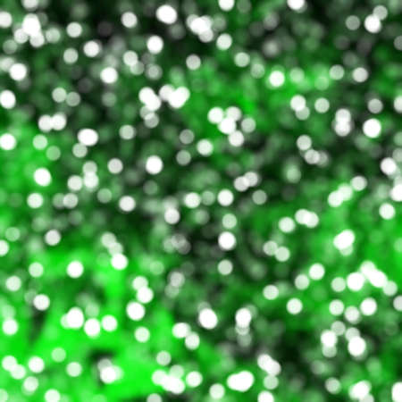 exciting: Defocused Unique Abstract Green Bokeh Festive Lights