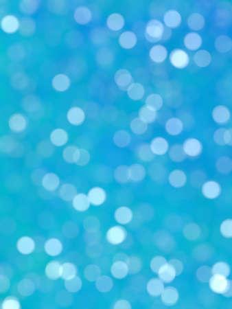 Defocused Unique Abstract Blue Bokeh Festive Lights Stock Photo