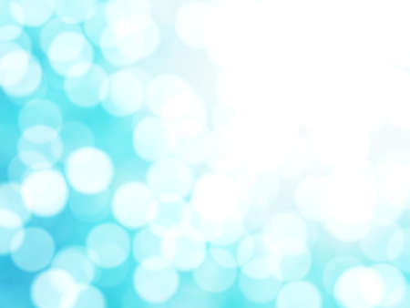 exciting: Defocused Unique Abstract Blue Bokeh Festive Lights Stock Photo