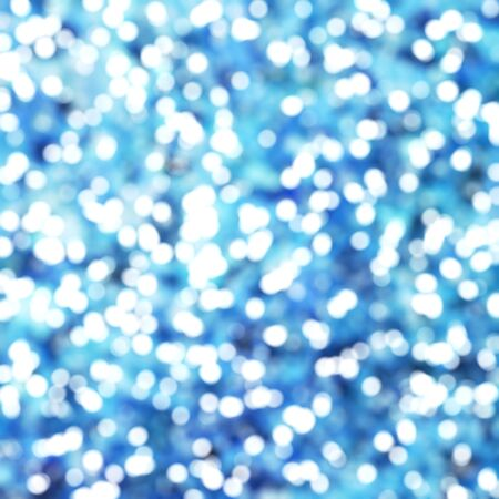 Defocused Unique Abstract Blue Bokeh Festive Lights Stock Photo
