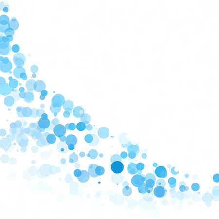Bubbles Circle Dots Unique Blue Bright Vector Background 向量圖像