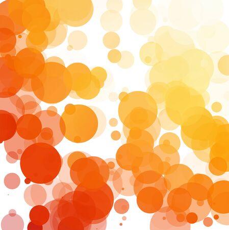 Bubbles Unique Orange Bright Vector Background
