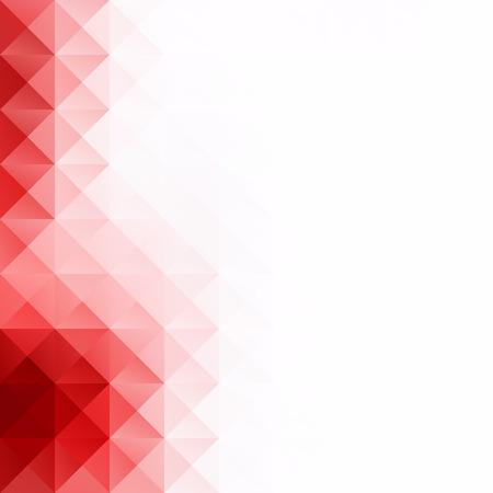 Red Grid Mosaic Background, Creative Design Templates 矢量图像