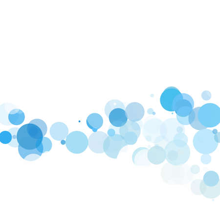 Bubbles Circle Dots Unique Blue Bright Vector Background Illustration