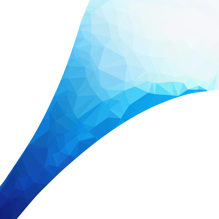 Blue Polygonal Mosaic Background, Creative Design Templates Vektorové ilustrace