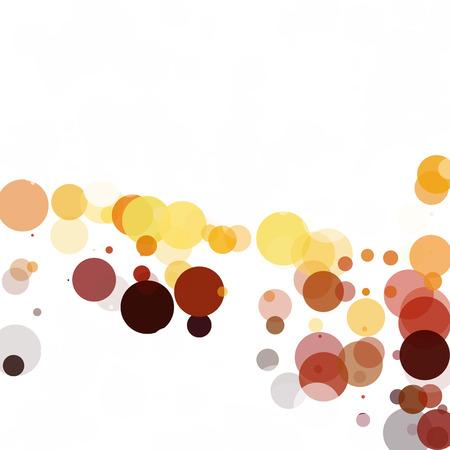 Bubbles Circle Dots Unique Yellow Bright Vector Background Illustration