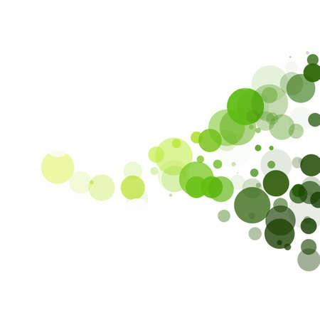 Bubbles Unique Green Bright Vector Background