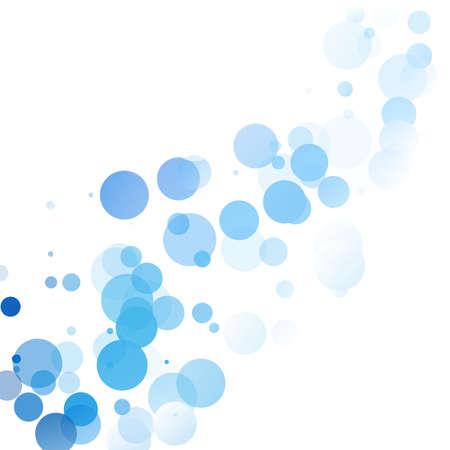 Bubbles Unique Blue Bright Vector Background