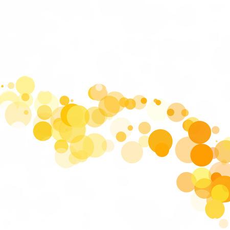 Bubbles Kreis Dots Einzigartige gelb Licht Vektor Hintergrund