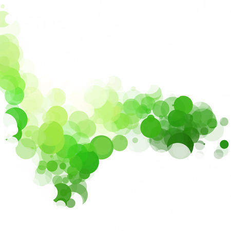 Bubbles Kreis Dots Unique Green Hell Vektor Hintergrund