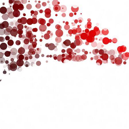 Bubbles Circle Dots Unique Red Bright Vector Background Illustration