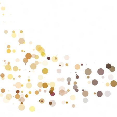 Bubbles Circle Dots Unique Yellow Bright Vector Background
